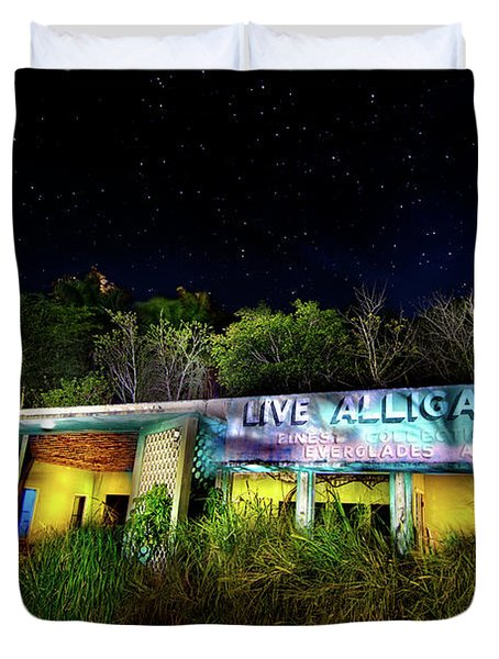 Everglades Gatorland Duvet Cover