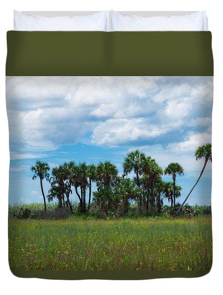 Everglades Landscape Duvet Cover by Christopher L Thomley