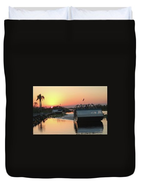 Everglades Sunset Duvet Cover