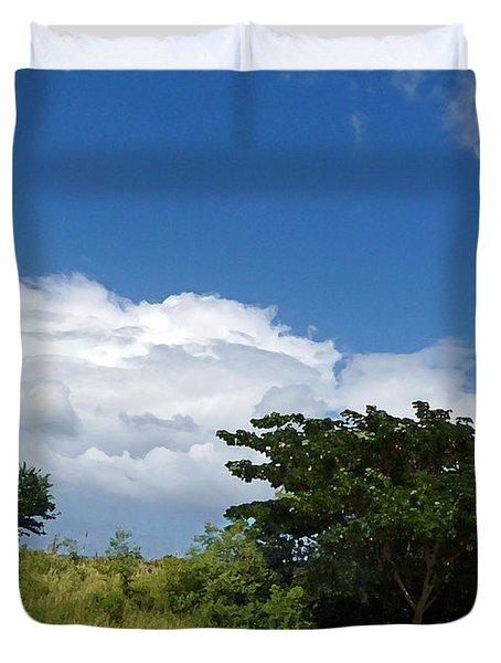 Evergreen And Sky Art Duvet Cover