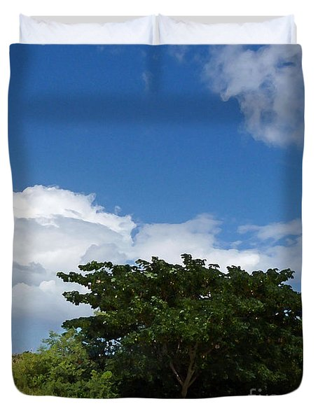 Evergreen And Sky Art Duvet Cover