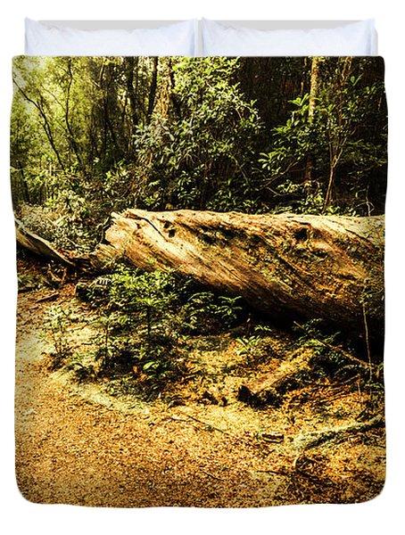 Evergreen Jungle Trails Duvet Cover