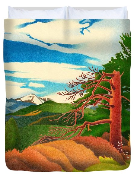 Evergreen Overlook Duvet Cover