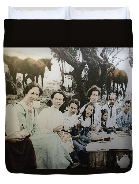 Duvet Cover featuring the photograph Every Day Life In Nation In Making by Miroslava Jurcik