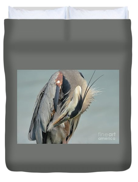 Every Feather In Place Duvet Cover by Pamela Blizzard