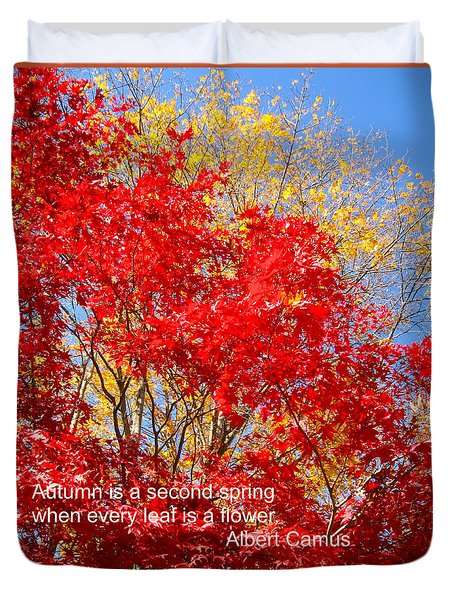 Every Leaf Is A Flower Duvet Cover