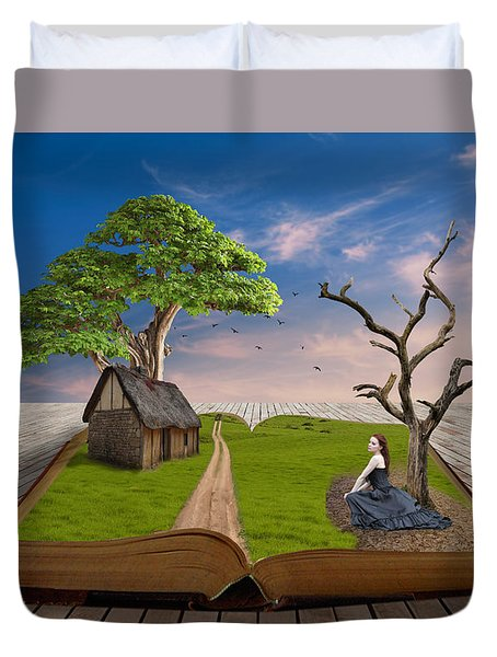 Duvet Cover featuring the mixed media Every Picture  Tells A Story by Marvin Blaine