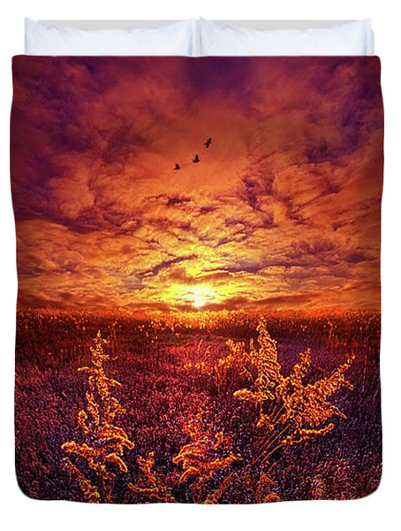 Duvet Cover featuring the photograph Every Sound Returns To Silence by Phil Koch