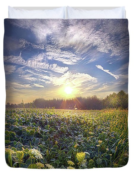 Duvet Cover featuring the photograph Every Sunrise Needs Its Day by Phil Koch