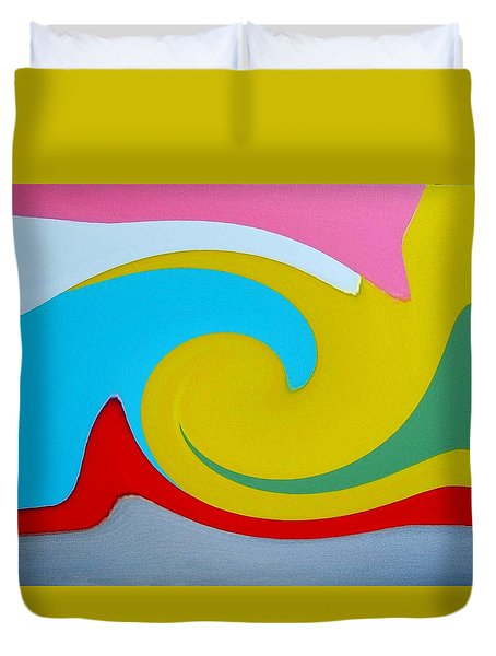 Everybody Has A Cousin In Miami Two Duvet Cover by Dick Sauer