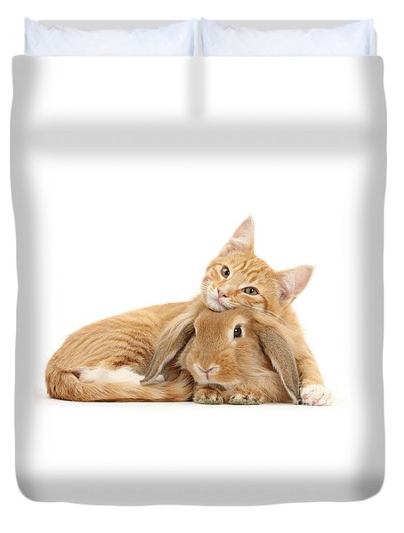 Everybody Needs A Bunny For A Pillow Duvet Cover