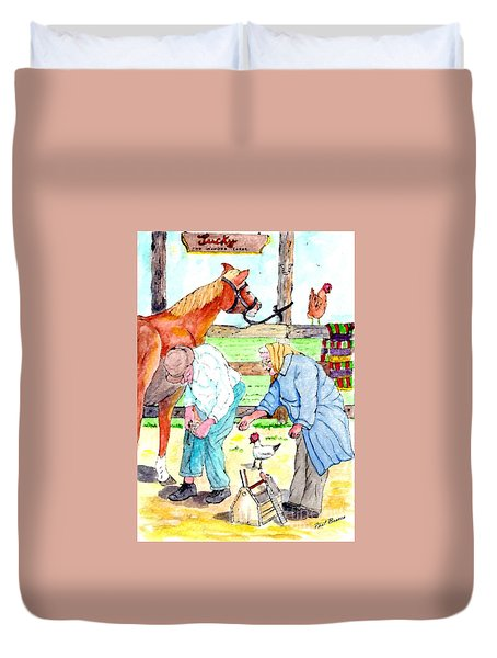 Everyone Works Duvet Cover