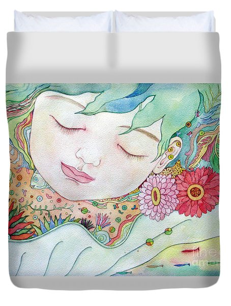 Everything Is A Child Of The Earth Duvet Cover