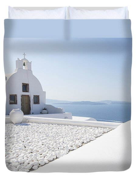 Duvet Cover featuring the photograph Everything Is White by Brad Scott