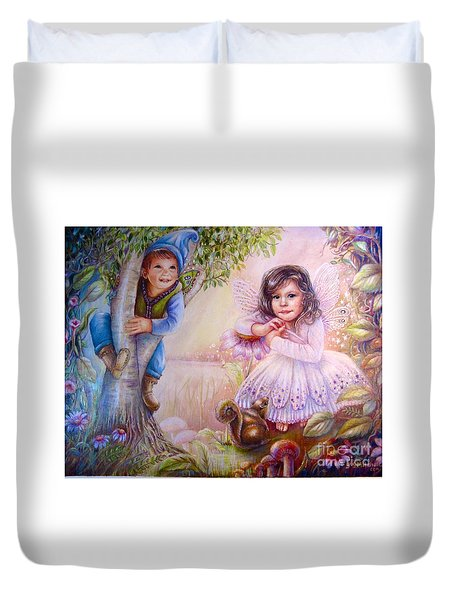 Evie And Luke Duvet Cover