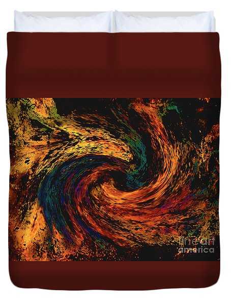 Duvet Cover featuring the digital art Collision Of Evil Forces by Merton Allen