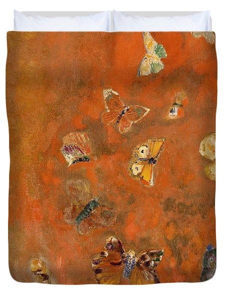 Evocation Of Butterflies Duvet Cover