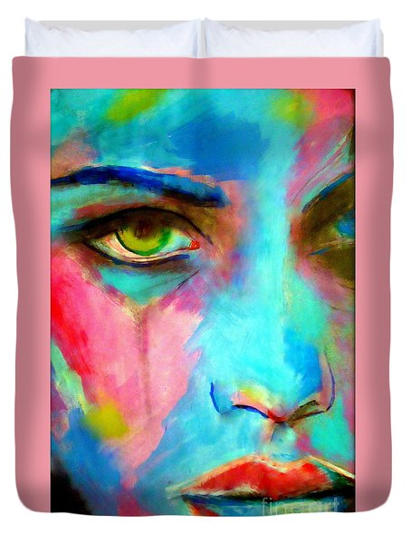 Evocative Gaze Duvet Cover