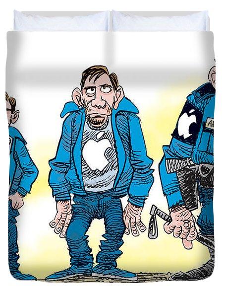Evolution Of Apple Duvet Cover