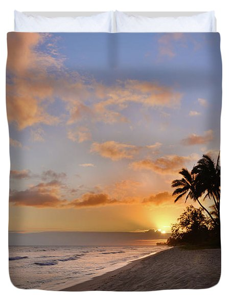Ewa Beach Sunset 2 - Oahu Hawaii Duvet Cover by Brian Harig