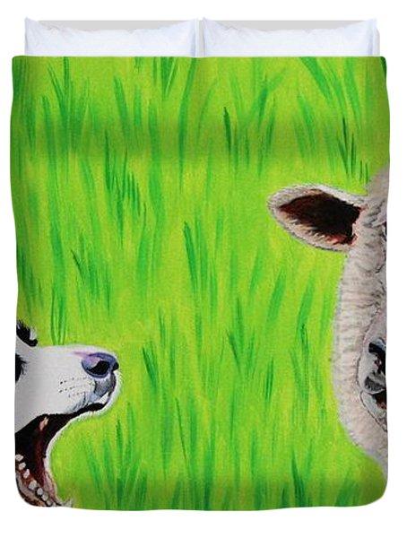 Ewe Talk'in To Me? Duvet Cover