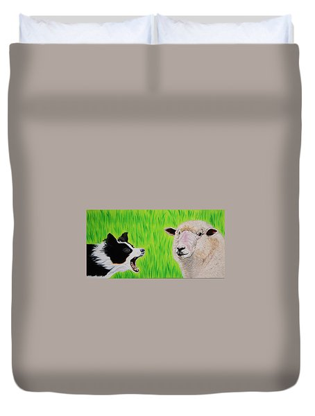 Ewe Talk'in To Me? Duvet Cover