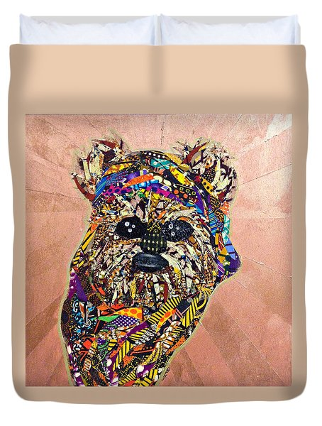 Duvet Cover featuring the tapestry - textile Ewok Star Wars Afrofuturist Collection by Apanaki Temitayo M