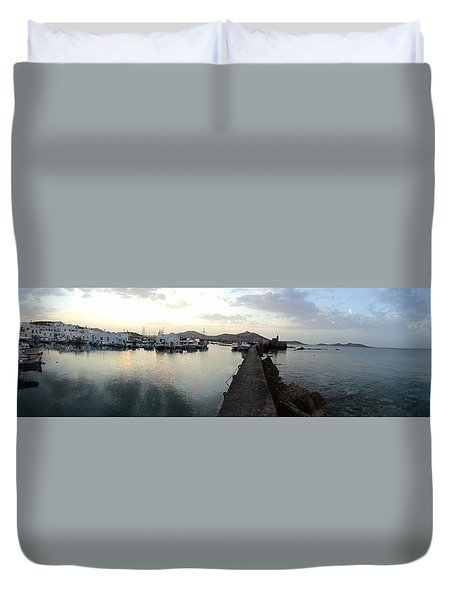 Excellent View Naoussa Paros Greece Duvet Cover