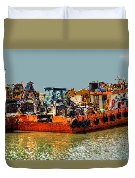 Duvet Cover featuring the photograph Excessive Cargo by Uri Baruch