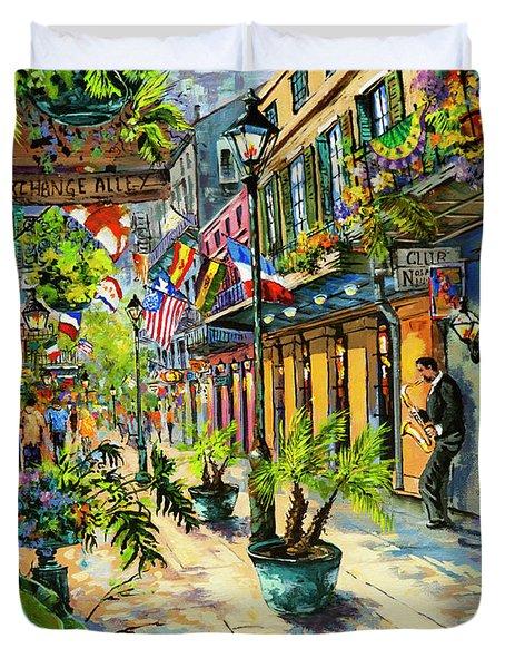 Exchange Alley Duvet Cover