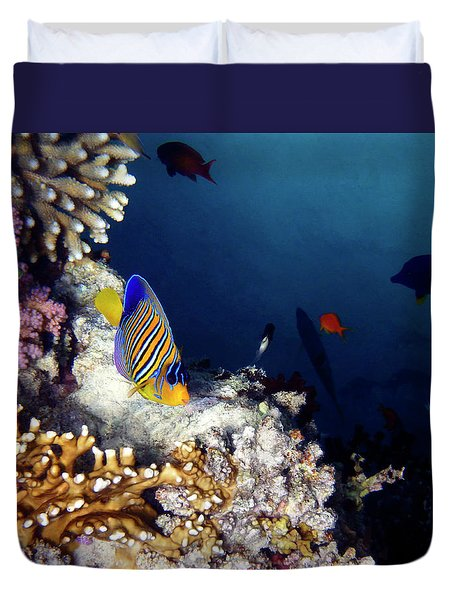 Exciting Red Sea World Duvet Cover