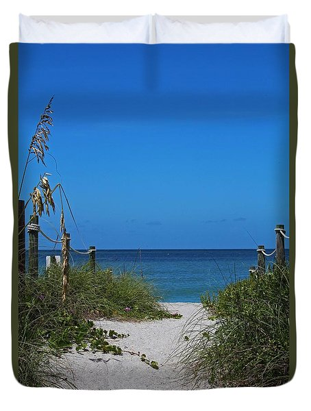 Duvet Cover featuring the photograph Exclusively Captiva by Michiale Schneider