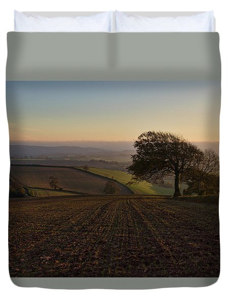 Exe Valley From Bidwell Cross Duvet Cover
