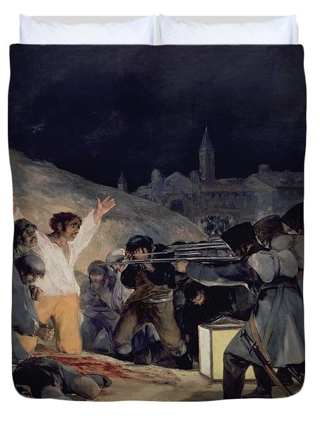 Execution Of The Defenders Of Madrid Duvet Cover by Goya