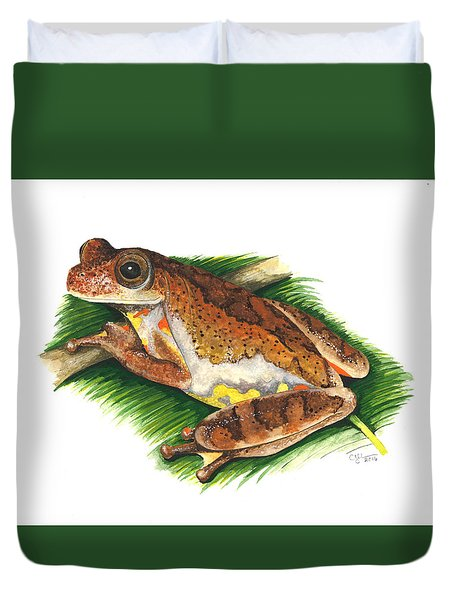 Executioner Treefrog Duvet Cover by Cindy Hitchcock