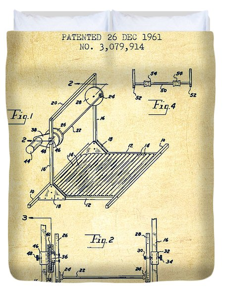 Exercise Machine Patent From 1961 - Vintage Duvet Cover