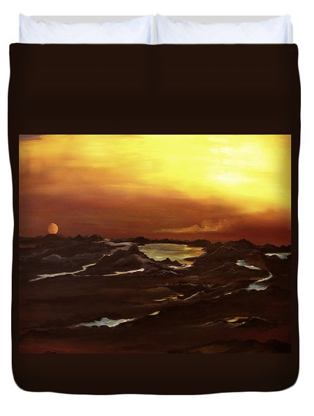 Exhausted Planet Duvet Cover
