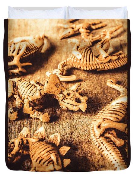 Exhibition In Prehistoric Art Duvet Cover