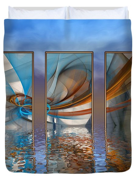Exhibition Under The Sky Duvet Cover