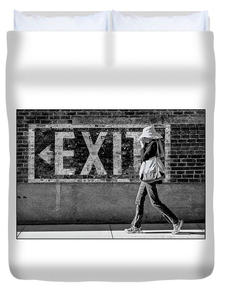 Exit Bw Duvet Cover