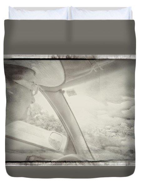 Duvet Cover featuring the photograph Exit Oz Enter Kansas by Carolina Liechtenstein