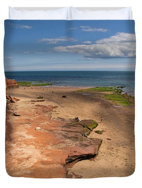 Exmouth Near Orcombe Point Duvet Cover