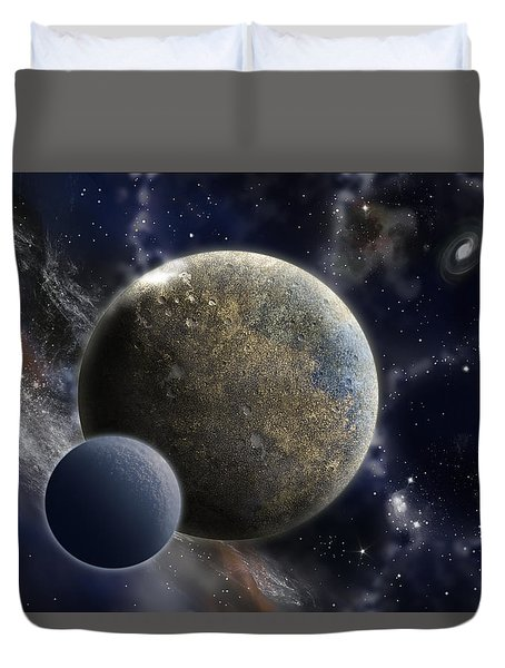 Exosolar Worlds Duvet Cover