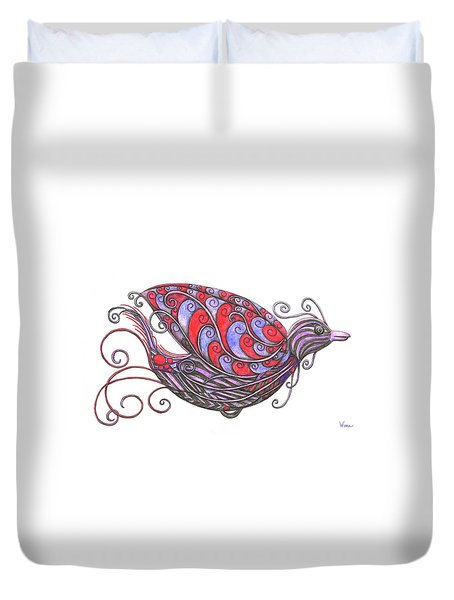 Exotic Bird V Duvet Cover