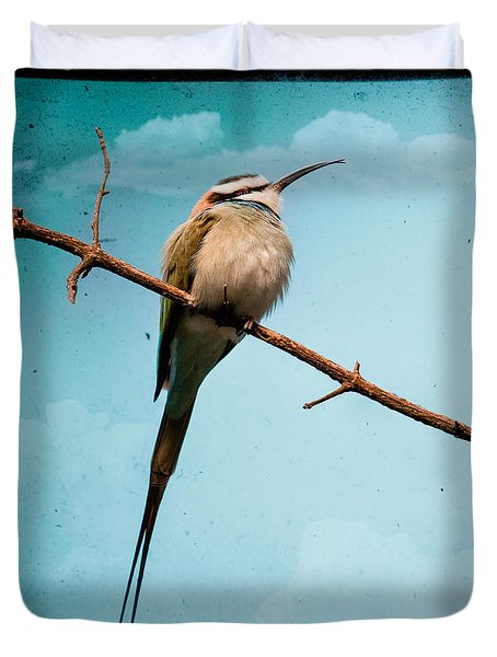 Duvet Cover featuring the photograph Exotic Birds - White Throated Bee Eater by Gary Heller