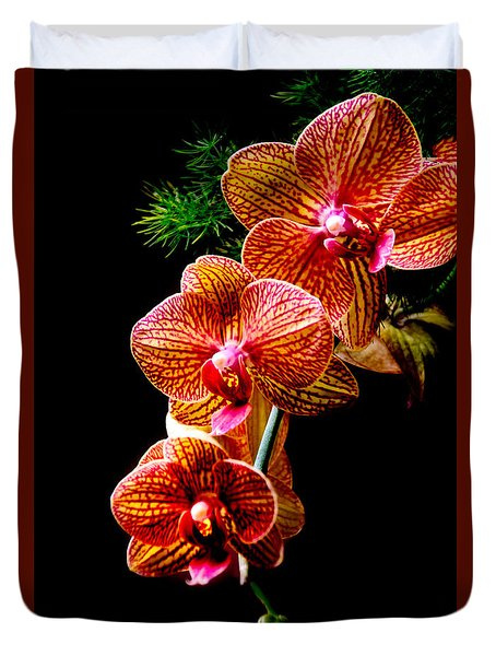Duvet Cover featuring the photograph Exotic Cascade Of Orchids by Julie Palencia