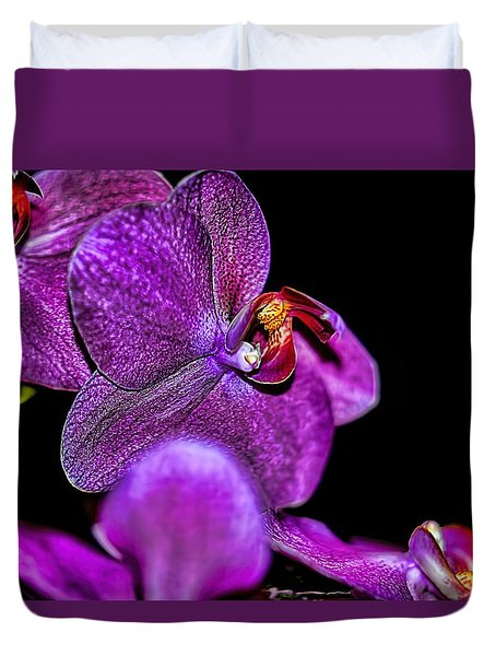 Duvet Cover featuring the photograph Exotic by Diana Mary Sharpton