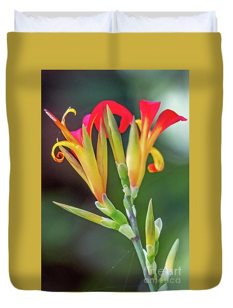 Duvet Cover featuring the photograph Exotic Flowers by Kate Brown