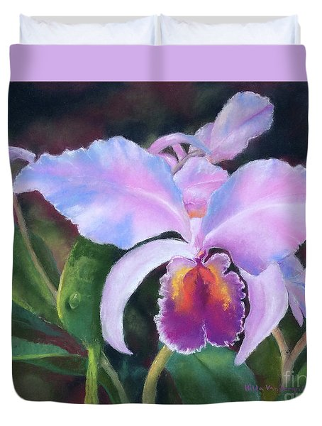 Exotic Pink Orchid Duvet Cover