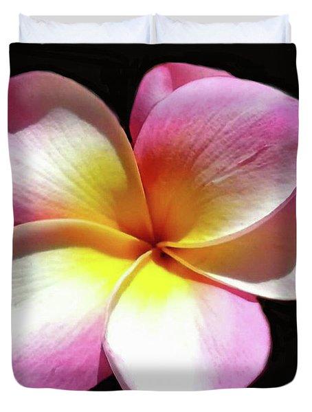 Exotic Plumeria Duvet Cover